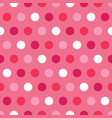 pink and white polka dots on pink background vector image vector image