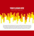 poster template with city skyline vector image