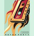 retro party artistic poster artwork vector image