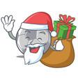 santa with gift football character cartoon style vector image vector image