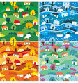 Seamless patterns with 4 seasons - vector | Price: 1 Credit (USD $1)