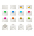 set envelopes with icons vector image vector image
