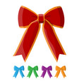 set of bow with ribbon vector image vector image