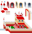 set of bricks and palace vector image