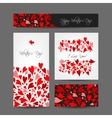 Set of valentine cards for your design vector image vector image