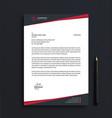 simple letterhead design template vector image vector image