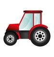 single tractor icon vector image vector image