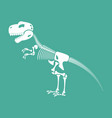 skeleton dinosaur isolated dino bones vector image