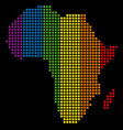 spectrum dot lgbt africa map vector image vector image
