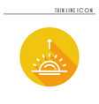 sun line simple icon weather symbols sunrise vector image vector image