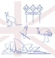 Symbols of Australia vector image