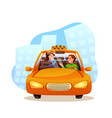taxi service flat isolated on vector image vector image