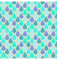 Teal and purple water drops seamless pattern vector image vector image