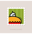 Thanksgiving Pie stamp Harvest vector image vector image