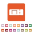 The blank cinema ticket icon vector image vector image