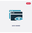 two color data viewer icon from user interface vector image vector image