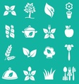 Vegetarian icons vector image vector image