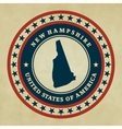 Vintage label New Hampshire vector image vector image