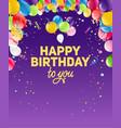 violet birthday background vector image