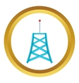 Wireless connection tower icon vector image