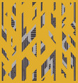 yellow vintage geometric seamless pattern vector image vector image