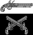 Flintlock Antique Pistol vector image