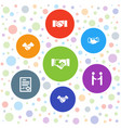 7 deal icons vector image vector image
