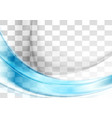 Abstract blue transparent waves vector image