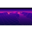 abstract glowing wireframe landscape background