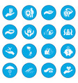 accident insurance icon blue vector image vector image