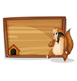 An empty board at the back of an animal vector image vector image