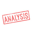 Analysis red rubber stamp on white vector image