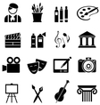 Art icon set vector image vector image