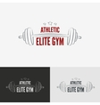 Athletic gym logo concept vector image vector image
