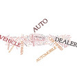 auto dealer in you city and town text background vector image vector image