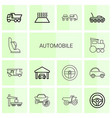 automobile icons vector image vector image
