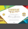 certificate retro design template 17 vector image