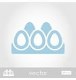 Chicken eggs in a tray icon vector image