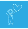child with heart icon vector image vector image