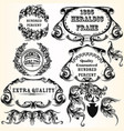 collection of heraldic frames for design vector image