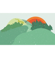 Colorful nature flat design landscape vector image