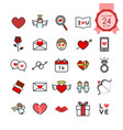 colorful signs and symbols flat icons set vector image