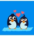 Cute Penguin Couple in Love vector image vector image