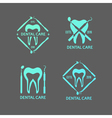 Dental logos set vector image vector image