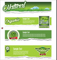 ecology organic nature green banner collection vector image vector image