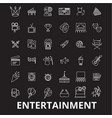 entertainment editable line icons set on vector image vector image
