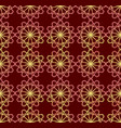 fine red and yellow patterns on dark red vector image vector image