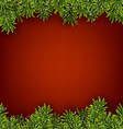 Fir red christmas frame vector image vector image
