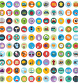 Flat icons design modern big set of various vector image vector image