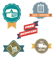 Free Shipping labels vector image vector image